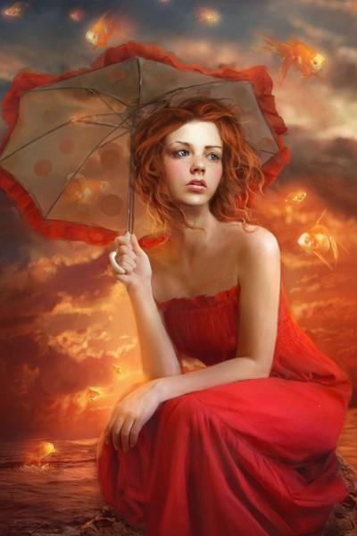 Рыжие девушки со спины фото — 15